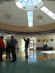 NMAF member photographs the Headstart Building at Isleta Pueblo during the 2013 Annual Tour.