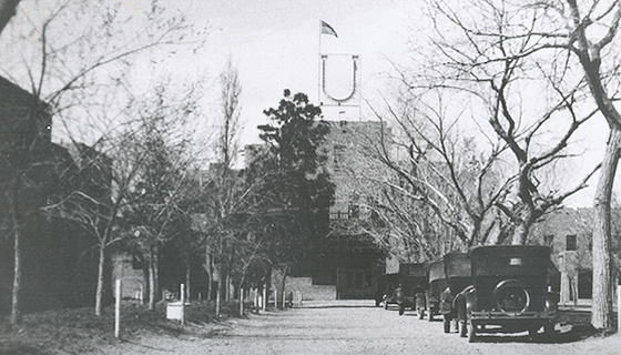 Hodgin Hall (c1930). Photo courtesy of UNM