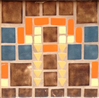 Tile work from KiMo Theater is inspiration for the spandrel design.
