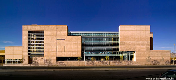 George Pearl Hall.  Design by Antoine Predock.  (Photo courtesy of UNM SAAP)
