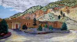 Painting By Helmut Naumer, Sr. - Administration Building (Museum Collection)