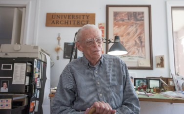 Former UNM architect Van Dorn Hooker (Photo Credit: Aaron Sweet / New Mexico Daily Lobo)
