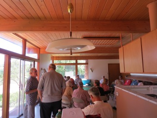 NMAF Members conducted their meeting in the kitchen/dining room area.