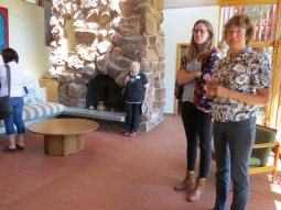 Ellen Robb and her daughter Katy led a tour of the Robb House during NMAF's annual meeting.