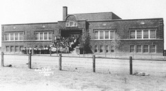 The Old Lordsburg High School, as photographed in the 1930s (O.L. Hinger/Courtesy Photo)