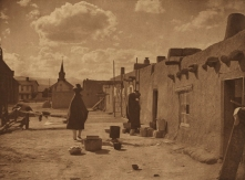 """""""Street Scene at San Juan."""" 1905. Edward S. Curtis, The North American Indian; v.17. Courtesy of Northwestern University Library."""