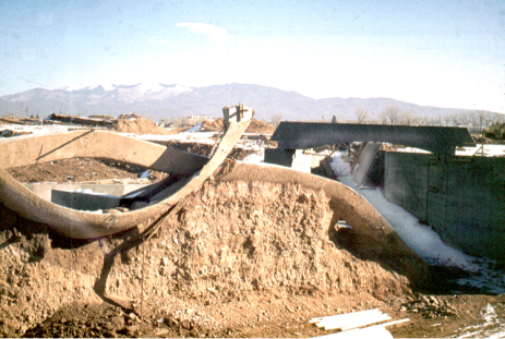 After the concrete was place on the earth form